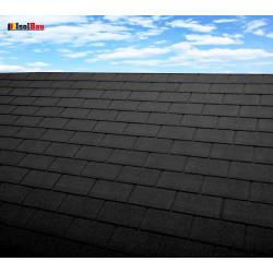 Dachschindeln 12 m² Rechteck Schwarz (4 Pakete) Schindeln Dachpappe Biber