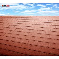 Dachschindeln 15 m² Rechteck Ziegelrot (5 Pakete) Schindeln Dachpappe Biber