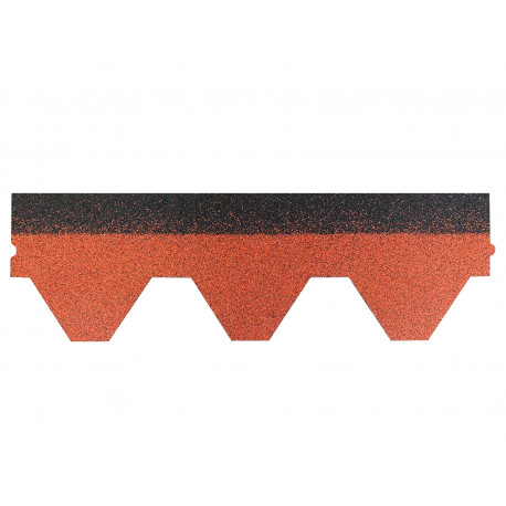 Dachschindeln Hexagonal 1 Stk Ziegelrot Schindeln Dachpappe Bitumen