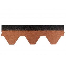 Dachschindeln Hexagonal 1 Stk Braun Schindeln Dachpappe Bitumen
