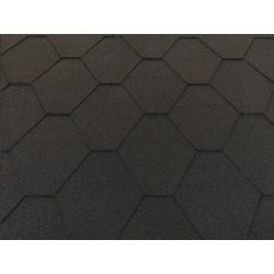 Dachschindeln 3m² Hexagonal Schwarz (22 Stk) Schindeln Dachpappe Bitumen