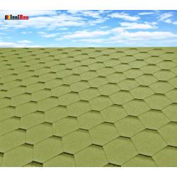 Dachschindeln 9 m² Hexagonal Grün (3 Pakete) Schindeln Dachpappe Biber