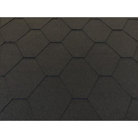 Dachschindeln 12 m² Hexagonal Schwarz (4 Pakete) Schindeln Dachpappe Biber