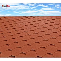 Dachschindeln 15 m² Hexagonal Ziegelrot (5 Pakete) Schindeln Dachpappe Biber