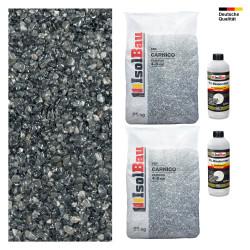 Steinteppich SET Marmorkies 50kg + PU-Bindemittel für 5m² Carnico 4/8mm