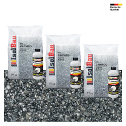 Steinteppich SET Marmorkies 75kg + PU-Bindemittel für 7,5m² Carnico 4/8mm