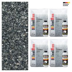 Steinteppich SET Marmorkies 100kg + PU-Bindemittel für 10m² Carnico 4/8mm