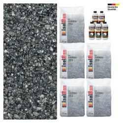 Steinteppich SET Marmorkies 125kg + PU-Bindemittel für 12,5m² Carnico 4/8mm