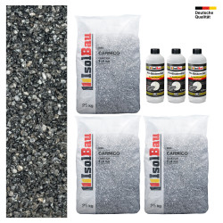 Steinteppich SET Marmorkies 25kg + PU-Bindemittel für 2,5m² Carnico 1-4mm