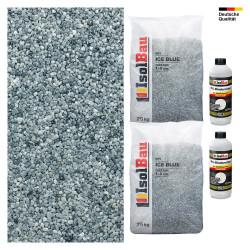 Steinteppich SET Marmorkies 50kg + PU-Bindemittel für 5m² Ice blue 4-8mm