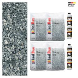 Steinteppich SET Marmorkies 100kg + PU-Bindemittel für 10m² Ice blue 4-8mm