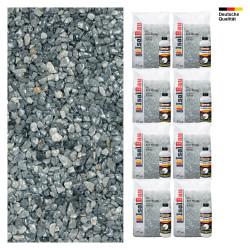 Steinteppich SET Marmorkies 200kg + PU-Bindemittel für 20m² Ice blue 4-8mm